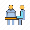 corporate, meeting, office, organization, people, worker, working icon