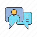 chat, communication, contact, speech bubble, talk icon