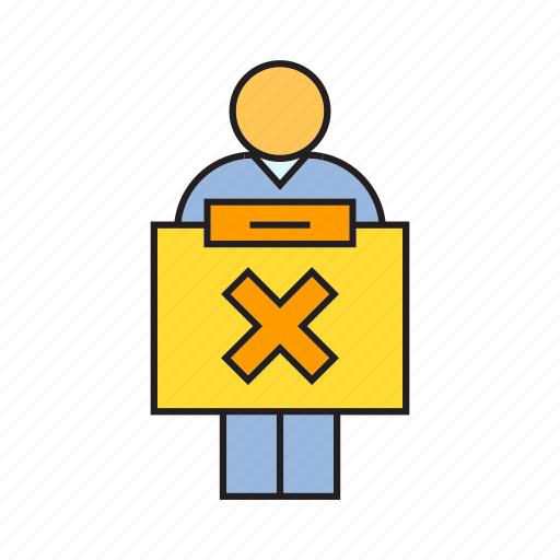 Ban, people, present, show, wrong icon - Download on Iconfinder