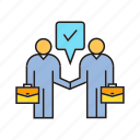 agree, business, collaborate, corporate, deal, people, sale icon