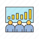 bar chart, business, chart, conference, graph, monitoring, stock market icon