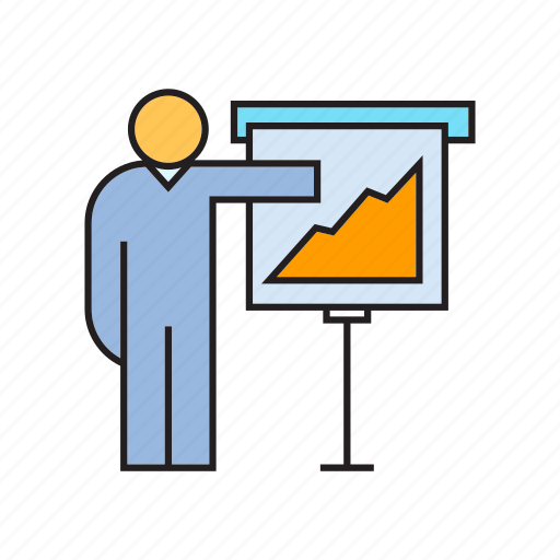 graph, office, peoplpe, presentation, whiteboard icon