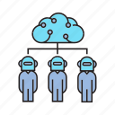 artificial intelligence, cloud, humanoid, robot, robotics icon