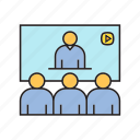 meeting, office, online conference, online meeting, people icon