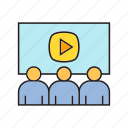 conference, media, monitor, video, video conference icon