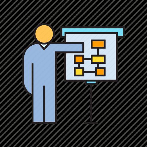 business, diagram, people, plan, presentation icon