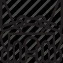 bribe, corruption, evil, law, money, prison icon