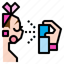 fresh, liquid, mineral, spray, water icon