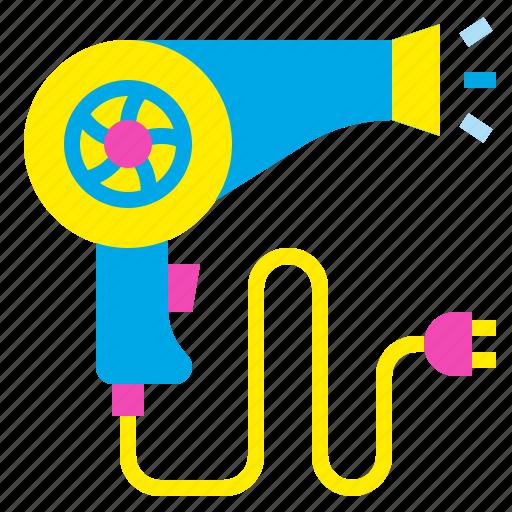 Blow, dryer, hair, hairdryer, salon icon - Download on Iconfinder