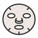 beauty, cosmetic, face mask, makeup, mask, moisturizer icon