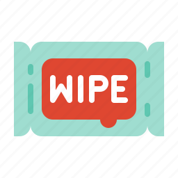 baby wipe, beauty, cosmetic, makeup, wet tissue, wipe icon