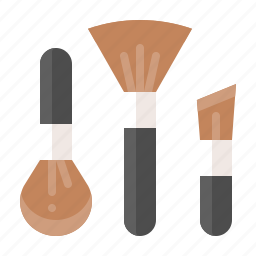 beauty, brush, cosmetic, cosmetic brush, makeup icon