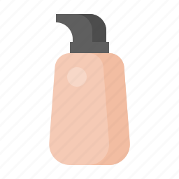 beauty, cosmetic, cosmetic bottle, liquid foundation, makeup icon