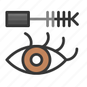 cosmetic, eye, eye mascara, makeup, mascara icon