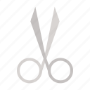 beauty, cosmetic, hair scissors, makeup, scissors icon