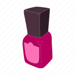 bottle, cartoon, cosmetic, glamour, makeup, manicure, nail icon