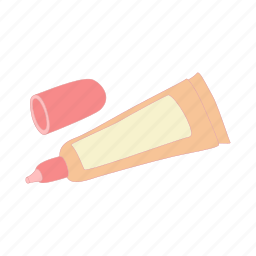 cartoon, cosmetic, cream, foundation, liquid, skin, tube icon