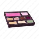 beauty, cartoon, color, cosmetic, eyeshadow, makeup, rouge icon