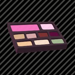 beauty, cartoon, color, cosmetic, eyeshadow, makeup, rouge icon