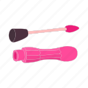 cartoon, cosmetic, fashion, female, lipstick, makeup, object icon
