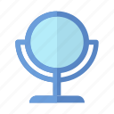 cosmetics, make up, mirror, stand mirror icon