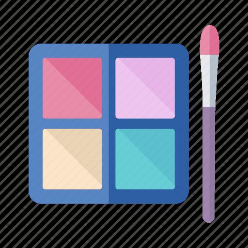 blush on, box, brush, cosmetics, powder icon