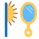 comb, combs, mirror icon