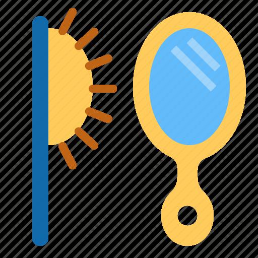 comb, combs, mirror icon