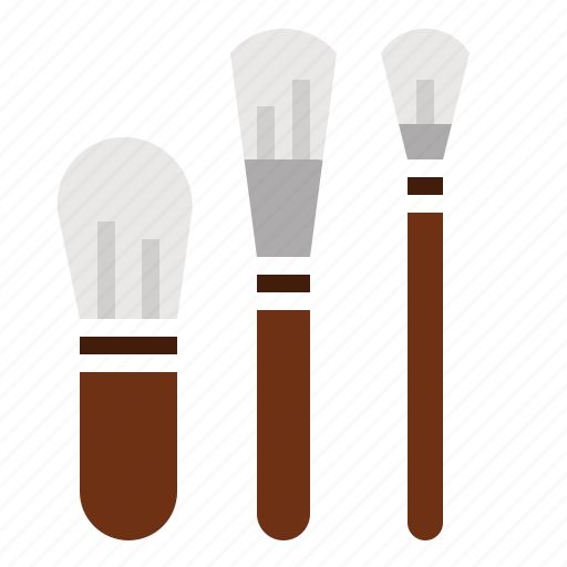 brushes, makeup icon