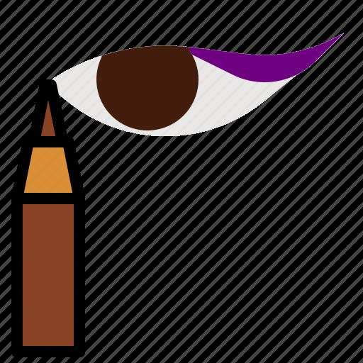 cosmetics, eye, eyelash, mascara icon