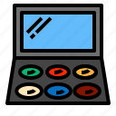 compact, cosmetics, makeup, mirror icon