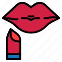 lipstick, mouth icon