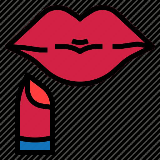lipstick, mouth icon