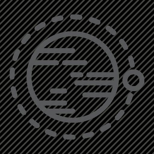 circle, cosmos, globe, orbit, space, technology icon
