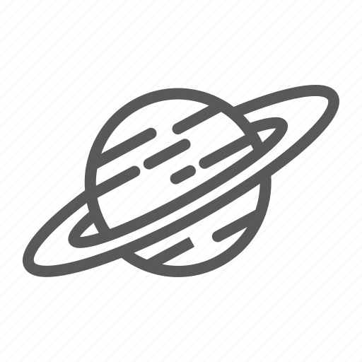 astronomy, cosmos, planet, saturn, science, space icon