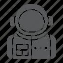 astronaut, astronomy, cosmonaut, science, sky, spaceman icon