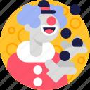 avatar, character, circus, halloween, costume, clown, person