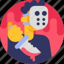 avatar, character, halloween, costume, maniac, villain icon