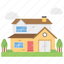 bungalows, cabins, cottages, dwellings, houses, villas icon