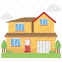 modern house flat icon, real estate concept icon