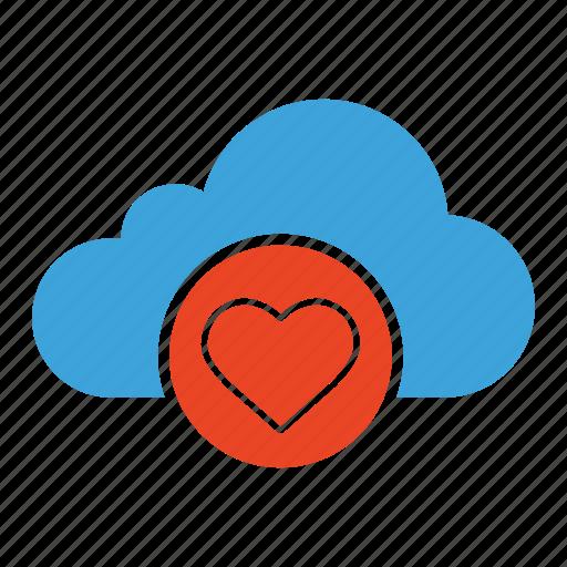 bookmark, cloud computing, cloud storage, favorite, favourite, like, like heart icon