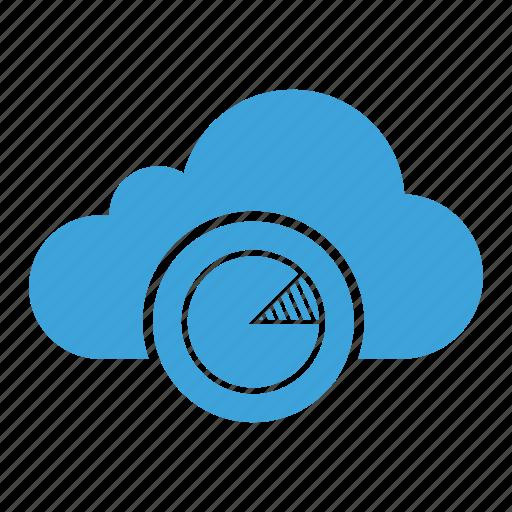 analysis, chart, cloud computing, cloud storage, diagram, report, statistics icon