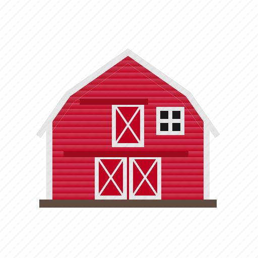 architecture, barn, building, countryside, farm, red, wooden icon