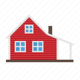 architecture, building, farm, farmhouse, home, house, wooden icon