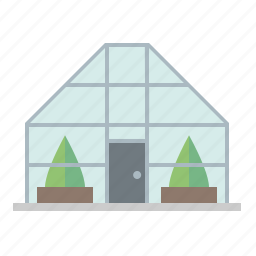 architecture, building, countryside, gardening, greenhouse icon