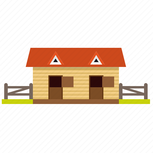 architecture, building, corral, countryside, stable, wooden icon