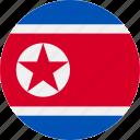 country, flag, korea, north icon