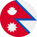ball, country, flag, nepal icon