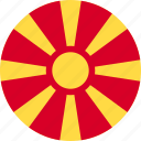 flag, macedonia, of, republic icon