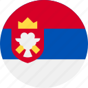 ball, country, flag, serbia icon